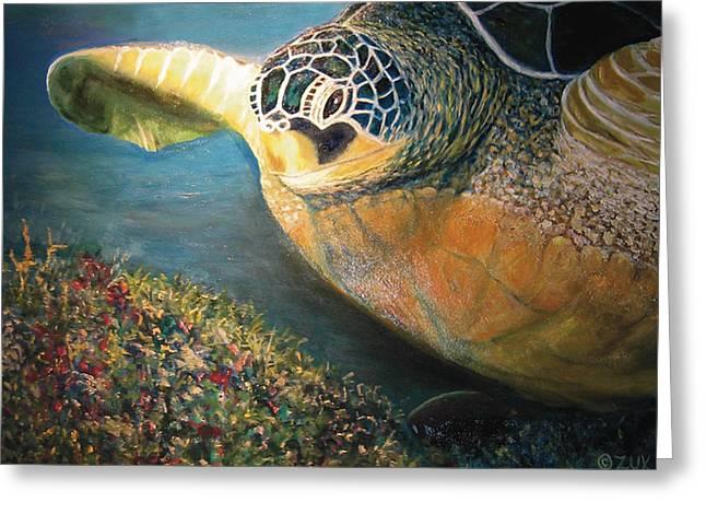 Turtle Run Greeting Card