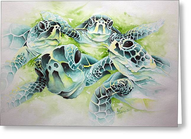 Greeting Card featuring the painting Turtle Soup by William Love