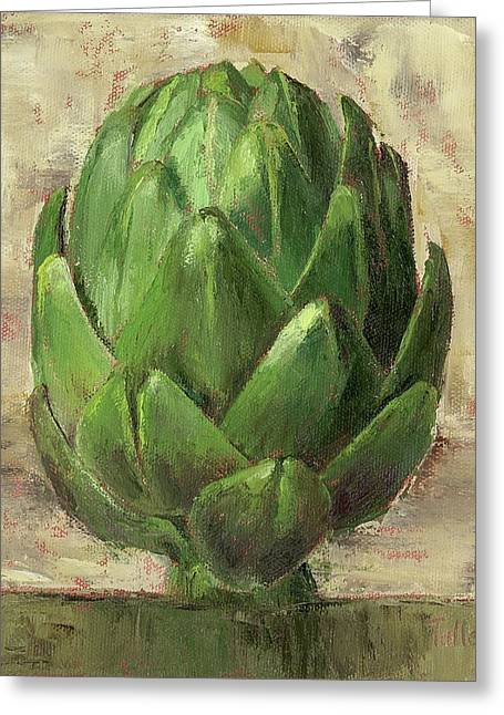 Italian Tuscan Greeting Cards - Tuscan Artichoke Greeting Card by Pam Talley