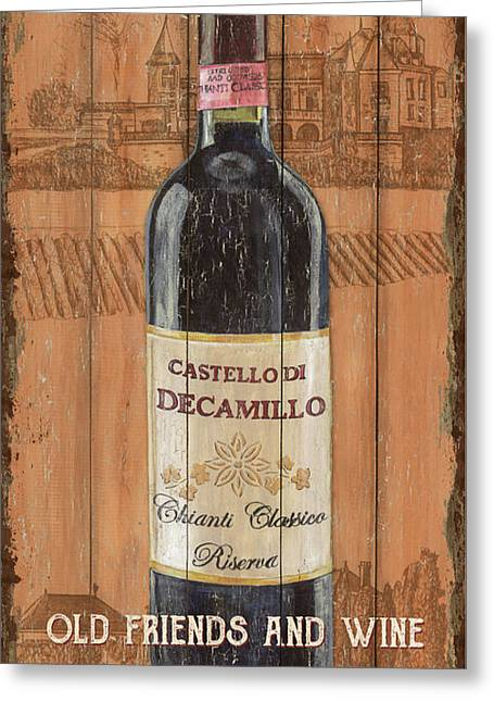 Tuscan Chianti 1 Greeting Card by Debbie DeWitt