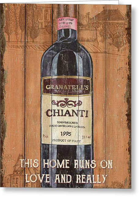 Tuscan Chianti 2 Greeting Card by Debbie DeWitt