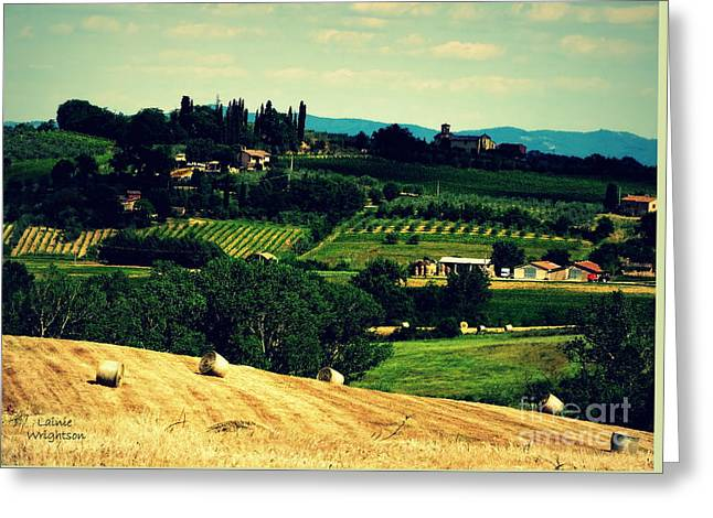 Tuscan Country Greeting Card by Lainie Wrightson