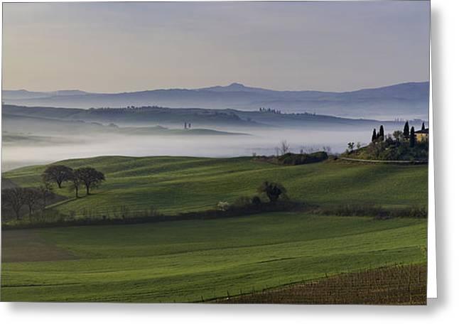 Tuscan Dawn Pano Greeting Card