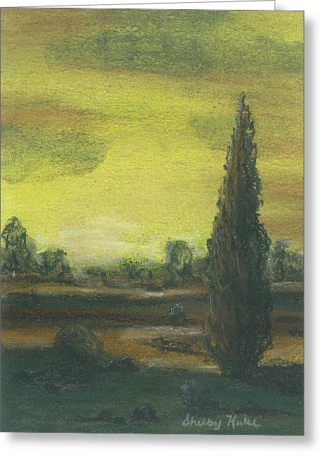 Tuscan Dusk 1 Greeting Card by Shelby Kube