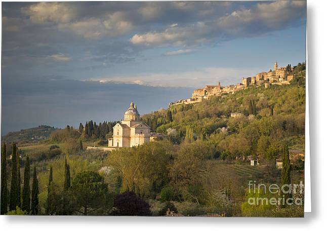 Tuscan Evening Over Montepulciano Greeting Card