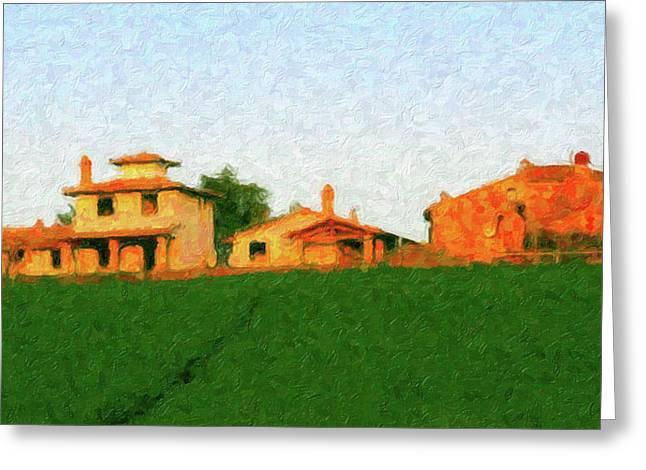 Tuscan Farmhouse Greeting Card