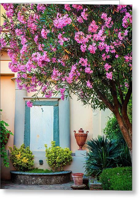 Tuscan Garden Greeting Card
