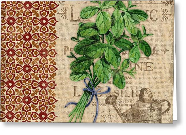 Tuscan Herbs I Greeting Card by Paul Brent
