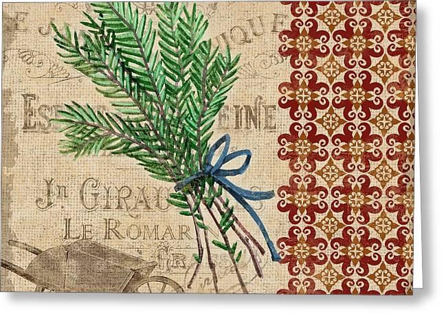 Tuscan Herbs II Greeting Card by Paul Brent