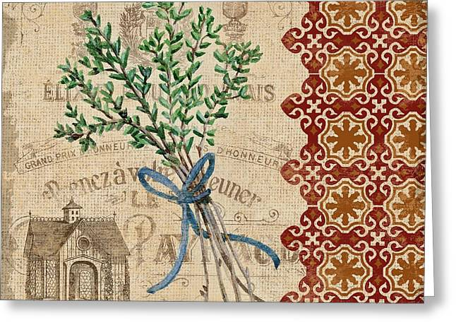 Tuscan Herbs Iv Greeting Card by Paul Brent