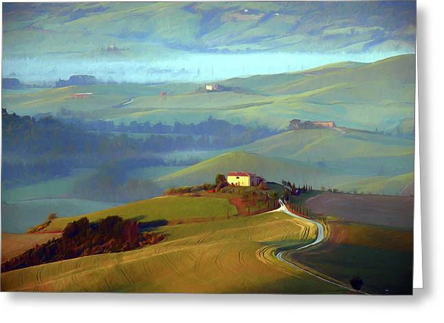 Tuscan Hills Iv Greeting Card