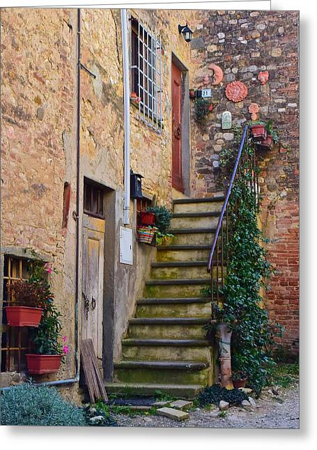 Tuscan Home Greeting Card by Frozen in Time Fine Art Photography