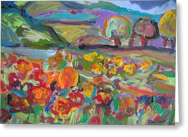 Tuscan Landscape Greeting Card by Marlene Robbins