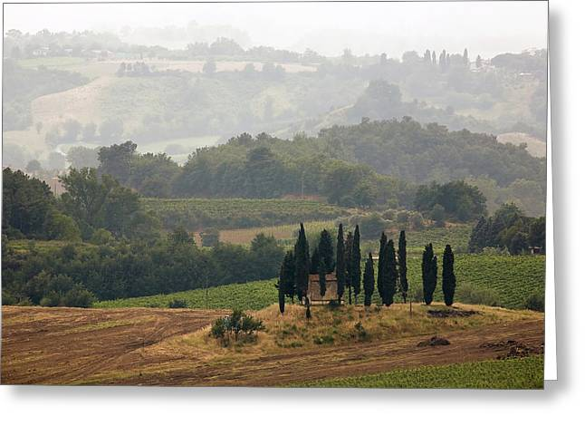 Tuscan Landscape Greeting Card by Stefan Nielsen