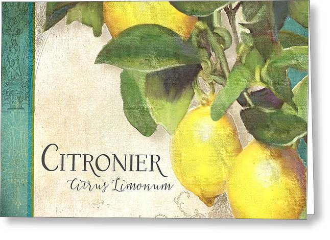 Tuscan Lemon Tree - Citronier Citrus Limonum Vintage Style Greeting Card