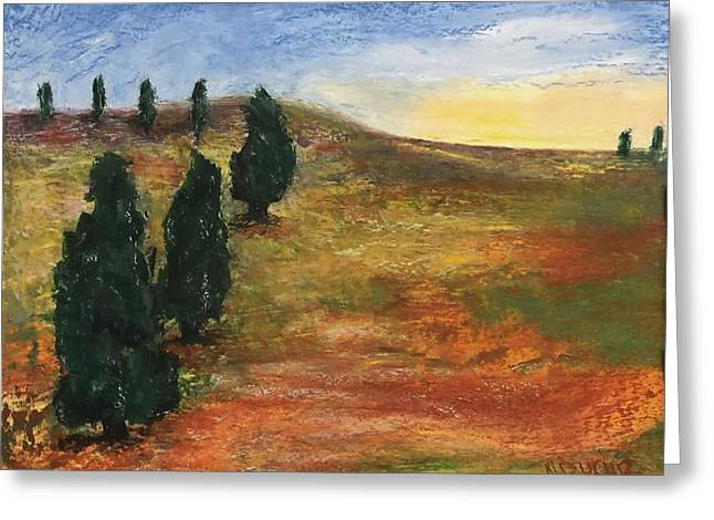 Greeting Card featuring the pastel Tuscan Lights by Norma Duch
