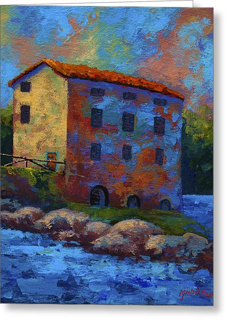 Mills Greeting Cards - Tuscan Mill Greeting Card by Marion Rose