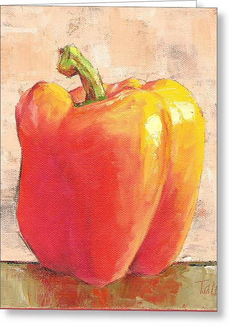 Tuscan Orange Pepper Greeting Card