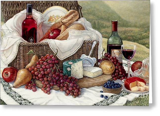 Tuscan Picnic  Greeting Card by Janet  Kruskamp
