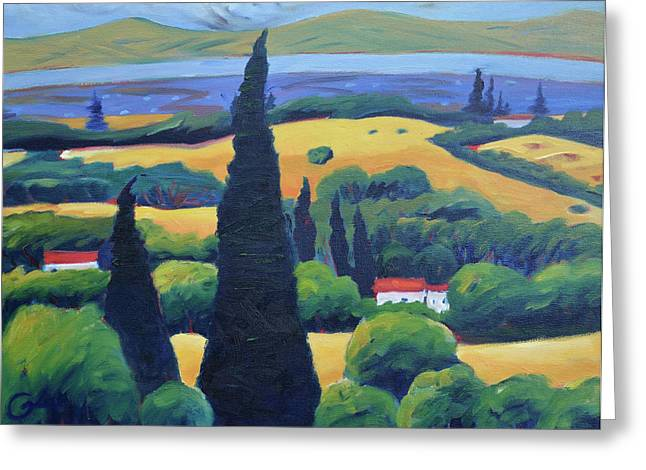 Tuscan Pines And South Bay Greeting Card