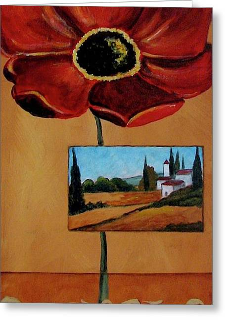 Tuscan Poppy Postcard Greeting Card