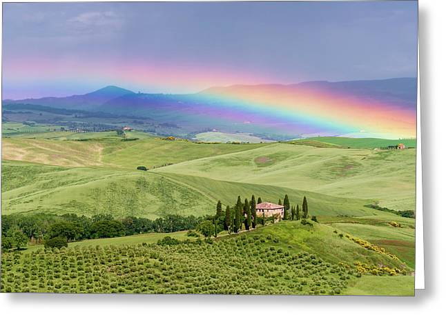 Tuscan Rainbow Greeting Card by Michael Blanchette