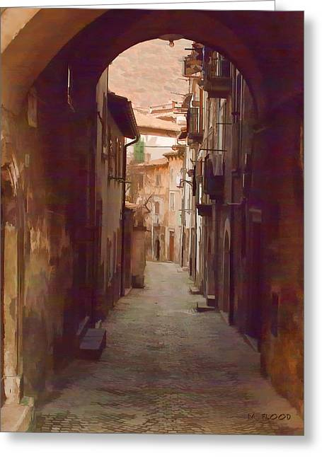 Greeting Card featuring the photograph Tuscan Side Street by Michael Flood