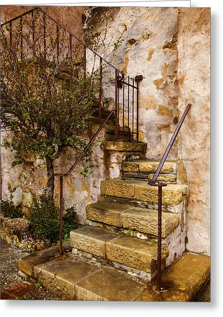 Tuscan Staircase Greeting Card by Lynn Bauer