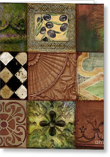 Tuscan Stone Greeting Card by Mindy Sommers