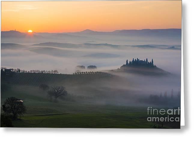 Tuscan Sunrise Greeting Card
