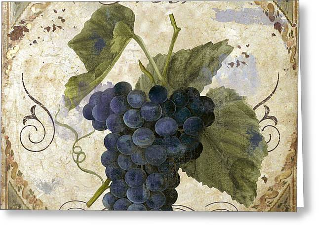 Tuscan Table Pinot Noir Greeting Card by Mindy Sommers