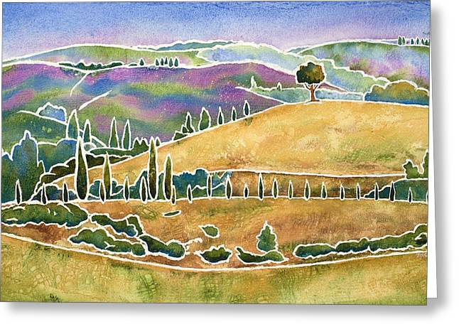 Tuscan Textures Greeting Card by Mary Giacomini