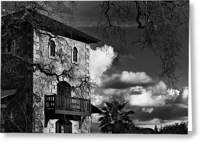 Tuscan Villa Greeting Card by Mick Burkey