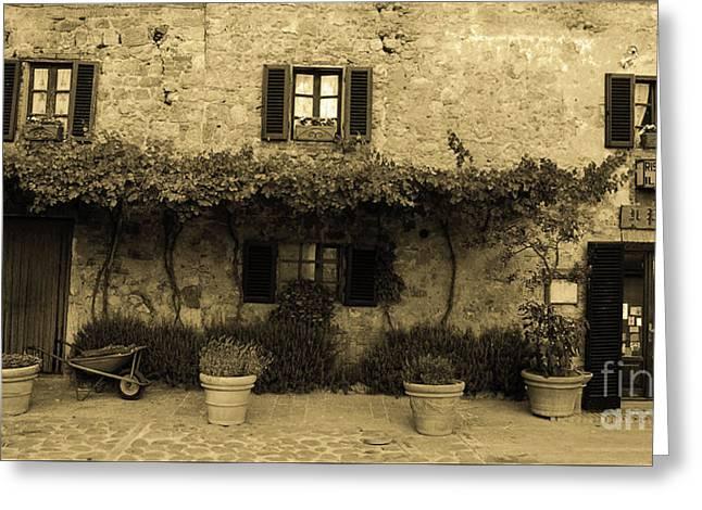 Tuscan Village Greeting Card