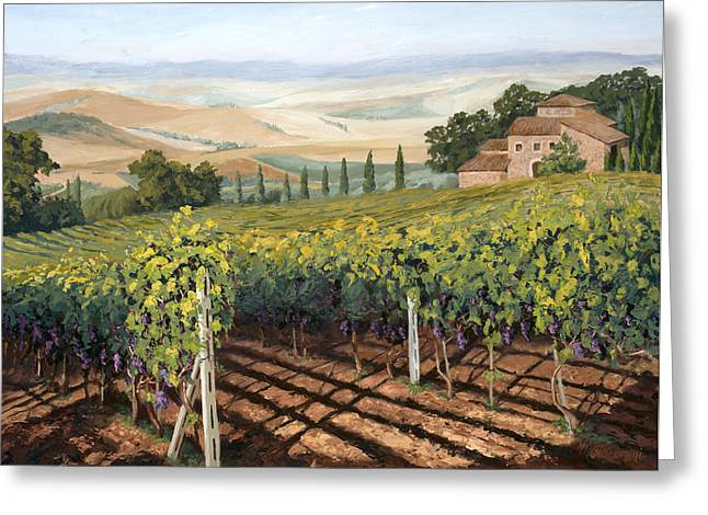 Tuscan Vines Greeting Card by Mary Giacomini