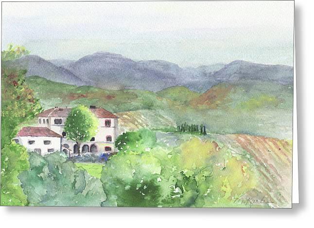 Tuscan Vineyards Greeting Card