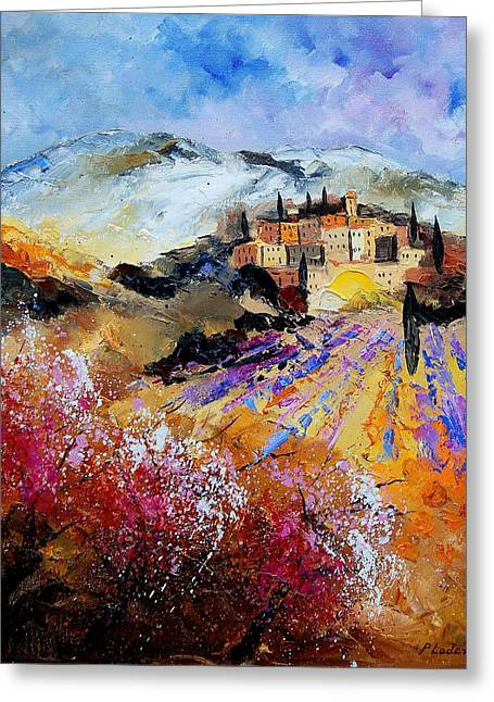 Tuscany 56 Greeting Card by Pol Ledent