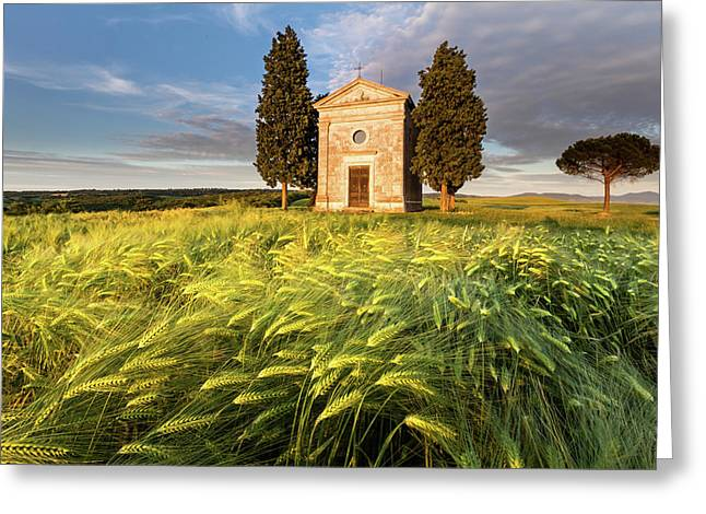 Tuscany Chapel Greeting Card by Evgeni Dinev