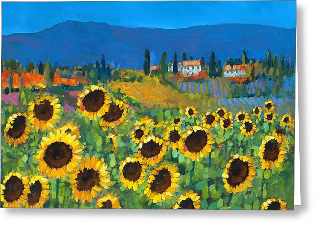 Tuscan Hills Paintings Greeting Cards - Tuscany Greeting Card by Chris Mc Morrow
