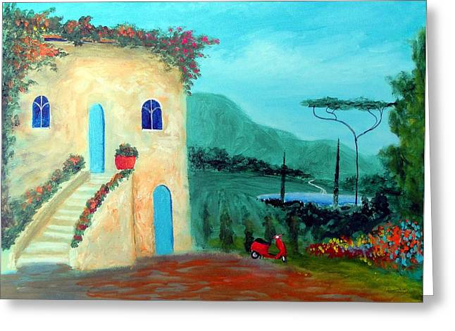 Tuscany Dreams Greeting Card by Larry Cirigliano