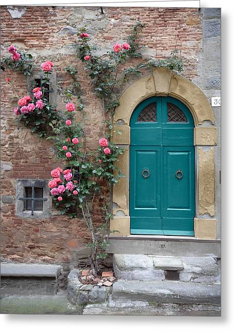 Tuscany Entrance Cortona Greeting Card