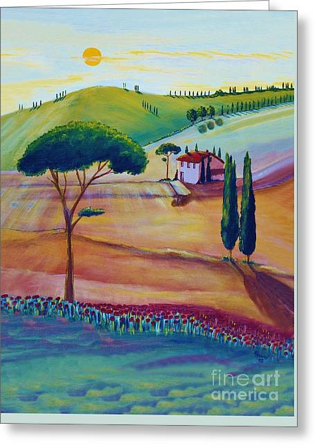 Tuscany Is Beautiful Greeting Card by Christine Huwer