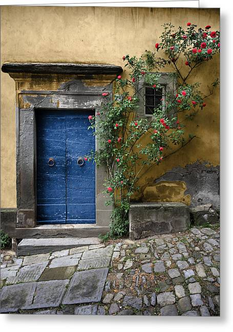 Nella's Blue Door Greeting Card