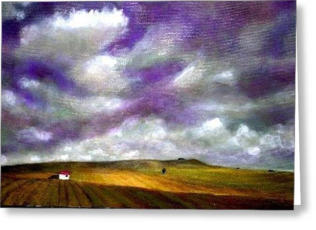 Tuscany Lavender Sky Greeting Card
