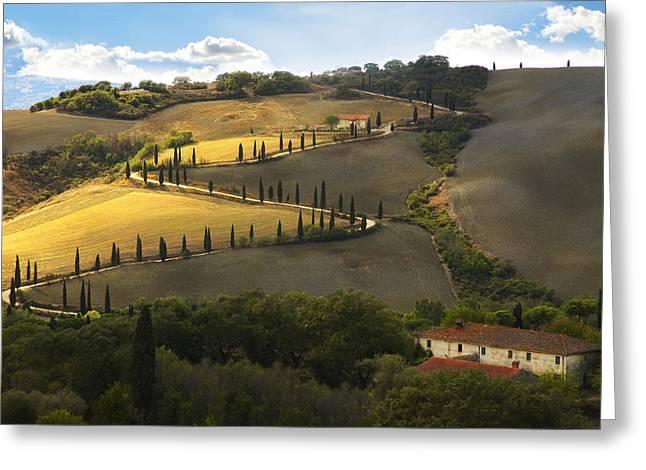 Tuscany Morning Greeting Card by Nicole Daniah Sidonie