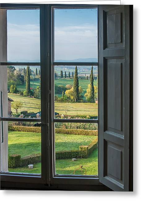 Tuscany Out My Window Greeting Card