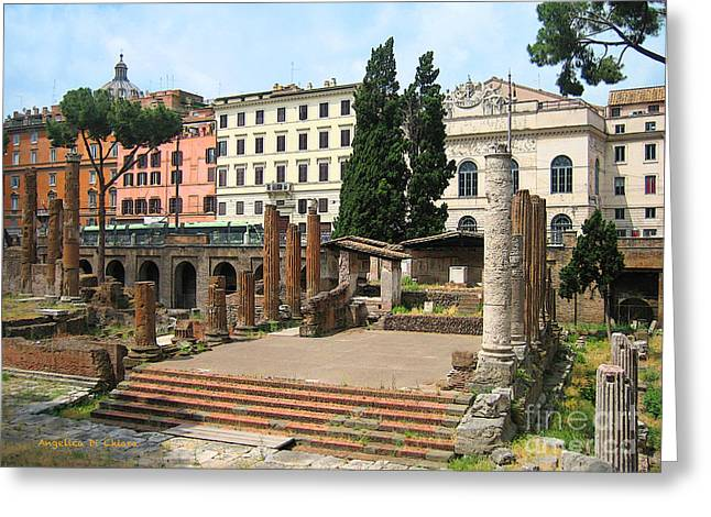 Tuscany- Roman Forum Greeting Card