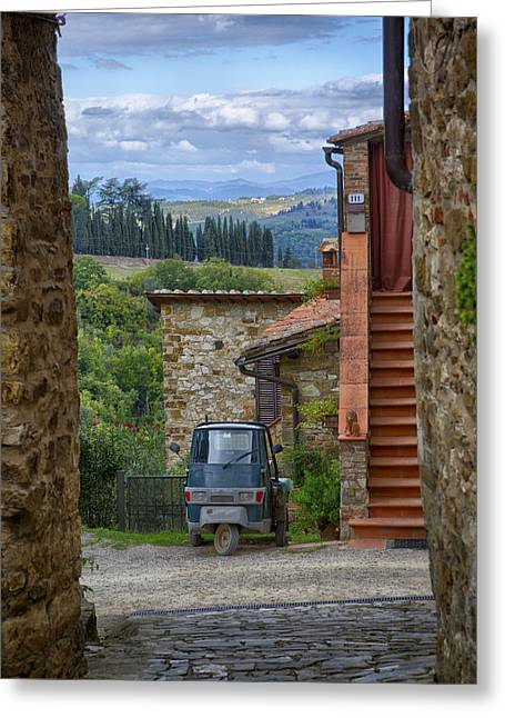 Tuscany Scooter Greeting Card