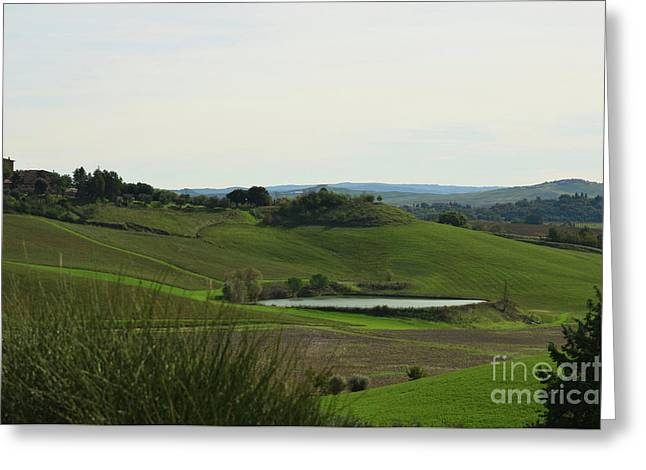 Tuscany's Countryside In Italy Greeting Card by DejaVu Designs