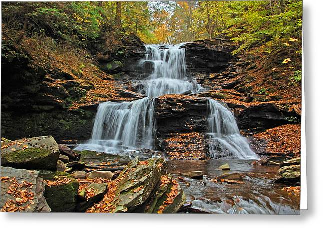 Tuscarora Falls Greeting Card by Ben Prepelka